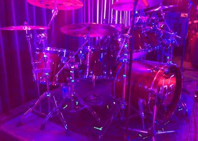 Justin Bennett drumkit Ohgr Tricks Tour in Vancouver Canada 2018